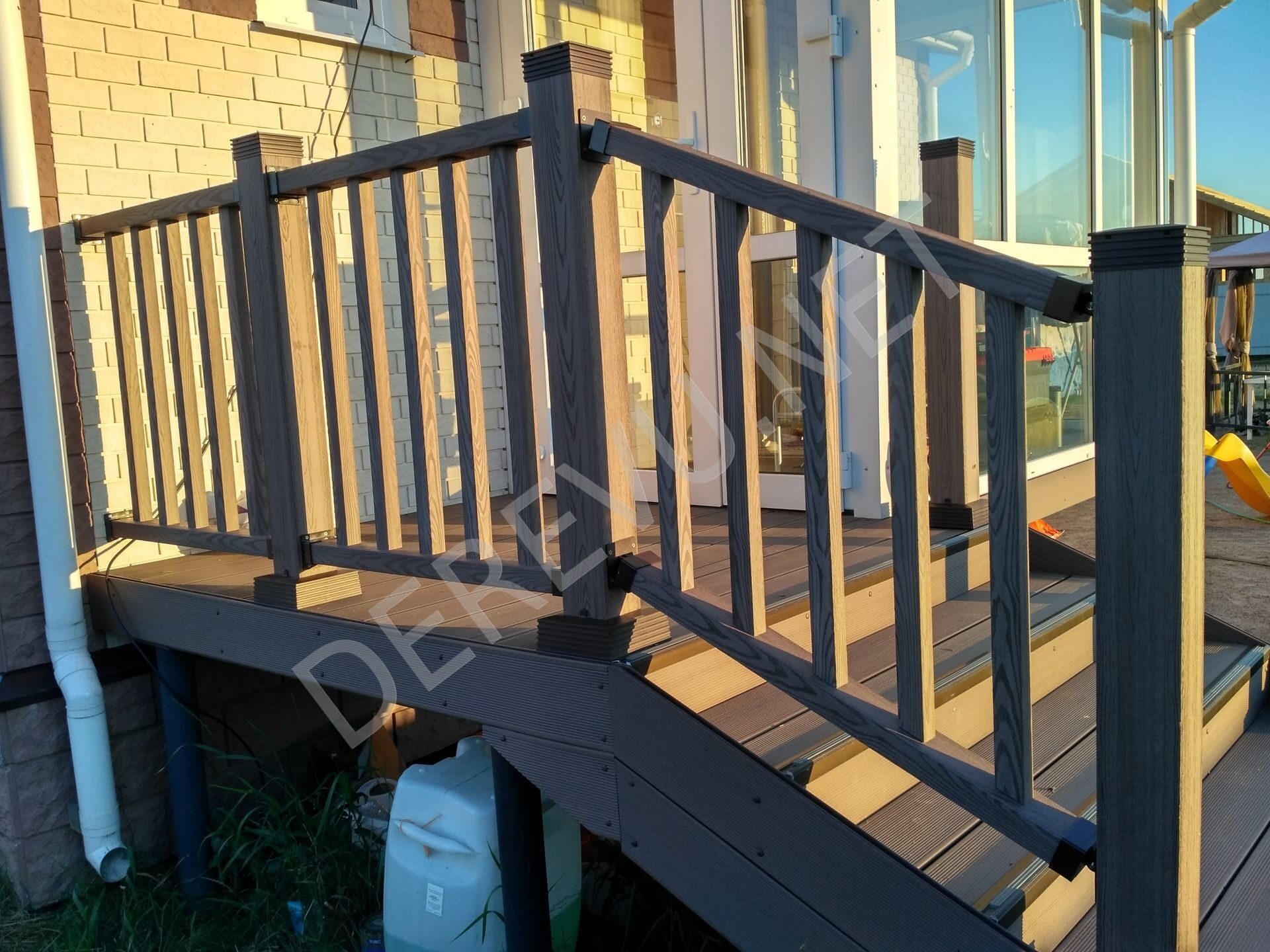 Ограждение для террасы holzhof woodstyle-s 1,1м*1м. цвет - w.