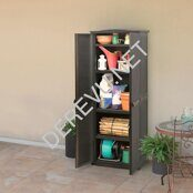 RATTAN STYLE TALL UTILITY SHED (2)