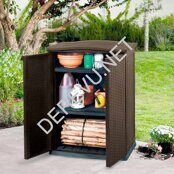 RATTAN STYLE BASE UTILITY SHED (2)